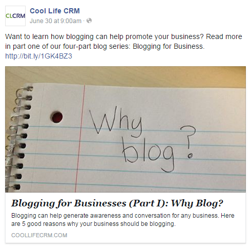 Blogging for Businesses (Part III): Using Cool Life CRM's Blog Tool